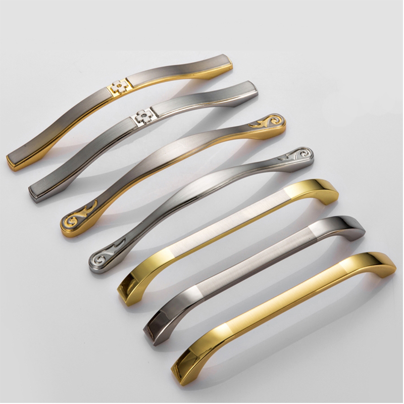 Modern Door Handles Kitchen Cabinet Knobs and Handles Silver Furniture Hardware Wardrobe Cupboard Handle Gold Drawer Pulls petty life new gold matt silver handle cabinet drawer wardrobe furniture hardware handles 58715