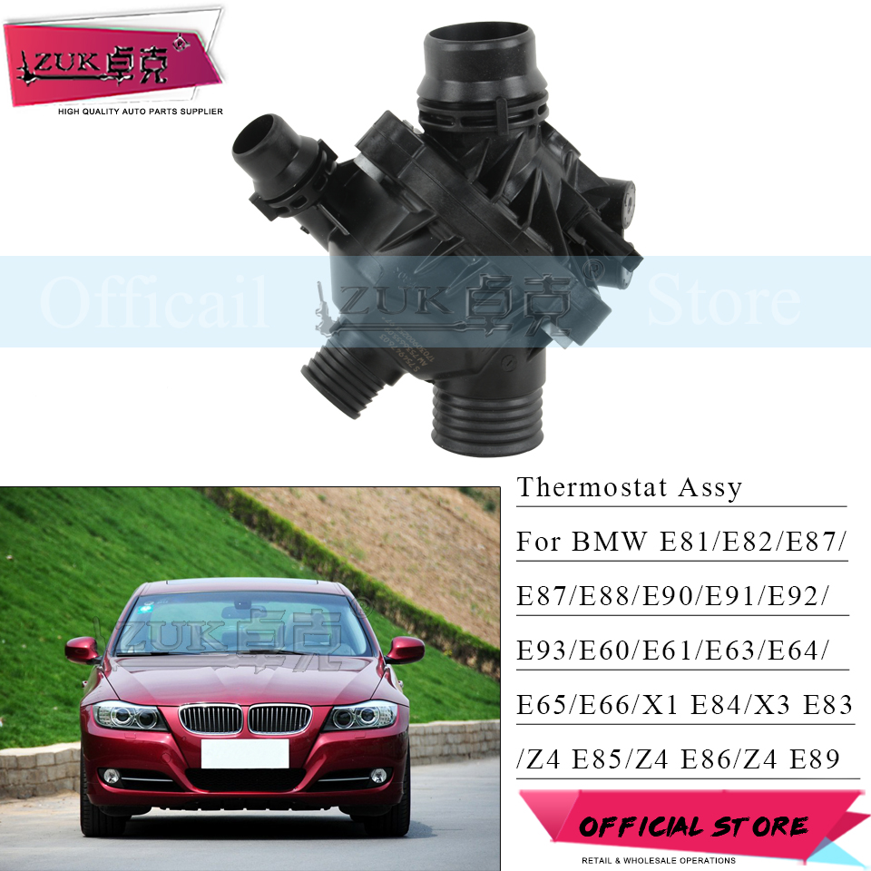 US $55 04 14% OFF|ZUK Water Pump Thermostat For BMW 1 SERIES E81 E82 3  SERIES E90 E91 E92 E93 Universal Part For N52 SERIES Engine Genuine  Quality-in