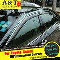 A & T Para Toyota Camry Chuva escudo carro styling 2015 Para Camry Janela chuva escudo chuva sobrancelha especial Originais bloco tempestade janelas
