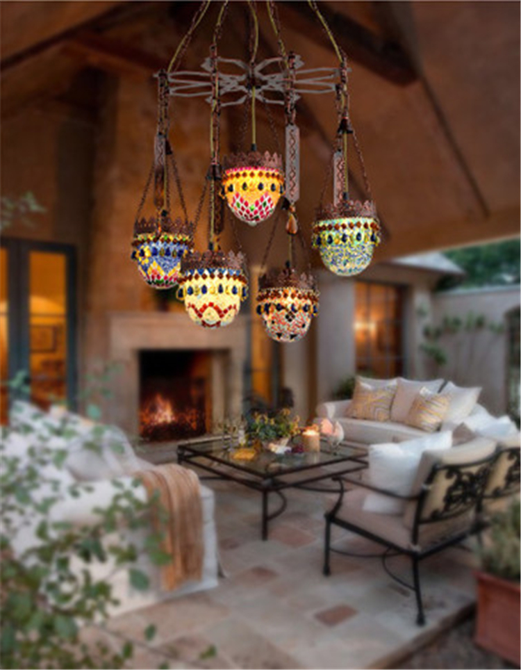 Ceiling Lights & Fans 4 Heads Bohemia American Country Retro Internet Cafe Chandelier Bar Restaurant Aisle Corridor Decoration Lamp Free Shipping