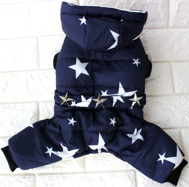 Stars Printed and Waterproof Dog Jacket for Chihuahua/Yorkshire Dogs Ideal for Winter