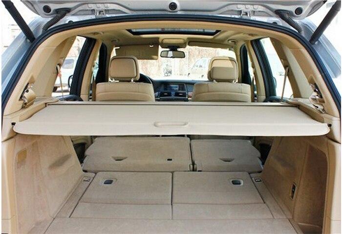 Pour BMW X5 E70 2008 2009 2010 2011 2012 Beige rétractable arrière couverture de coffre ombre couvercle de sécurité en aluminium + toile