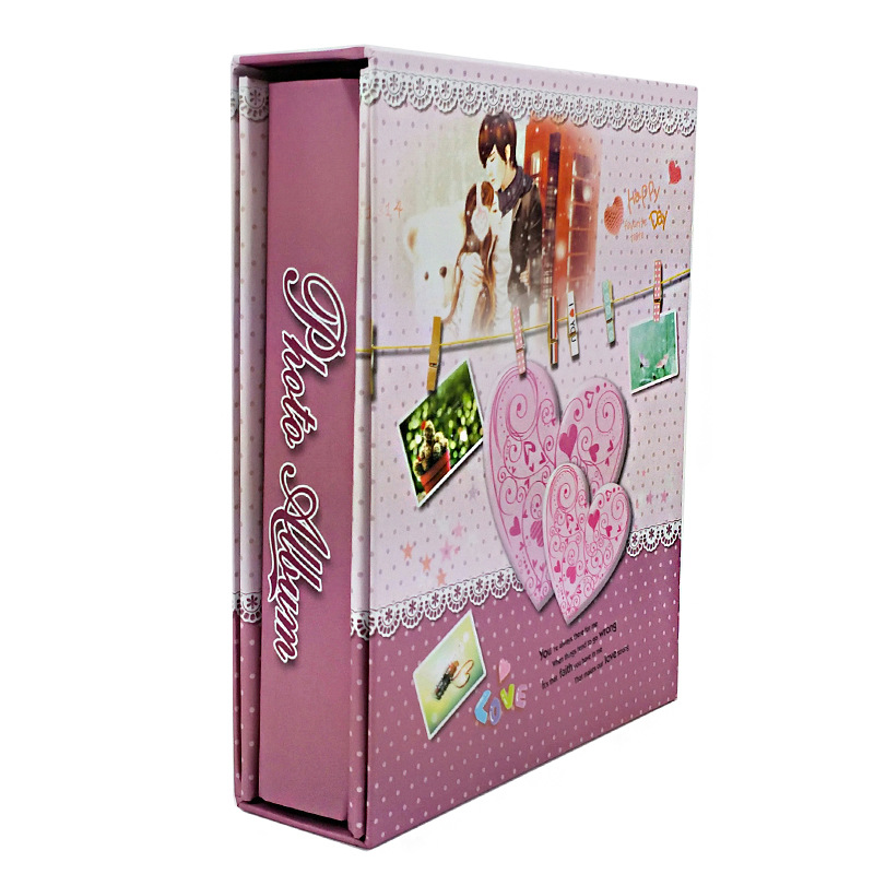 New 4D Large 6 Inch Boxed Album Insert Family Albums Scrapbook Cover Copper Paper Craft Photo Collection Wedding Anniversarys in Photo Albums from Home Garden