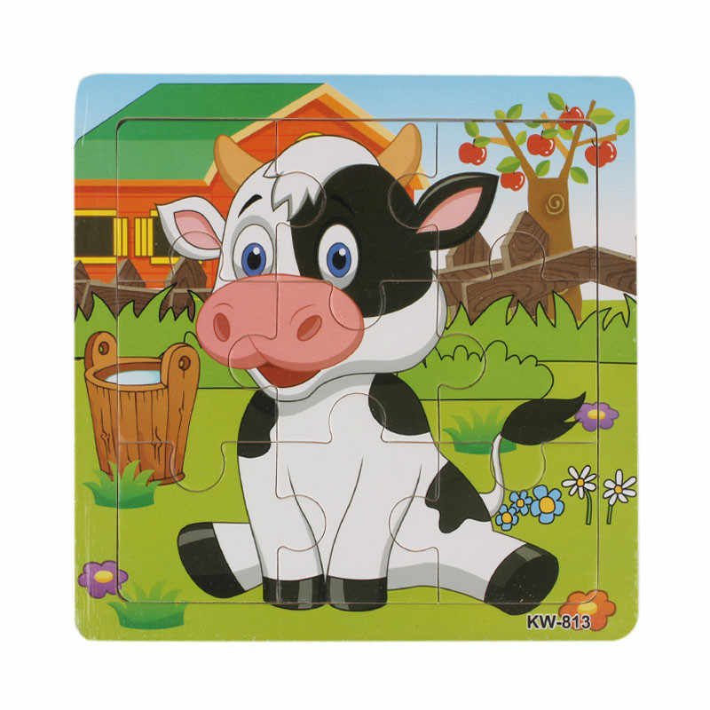 HIINST Best seller      Wooden Dairy Cow Jigsaw Toys For Kids Education And Learning Puzzles Toys S25 Ag14 gift funny