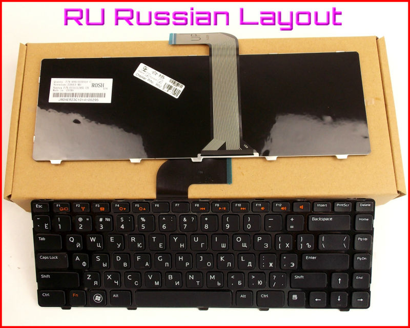 New <font><b>Keyboard</b></font> RU Russian Version For <font><b>Dell</b></font> Inspiron 14R 14RD N4110 N4110D M411R M521R 15 <font><b>3520</b></font> Laptop image