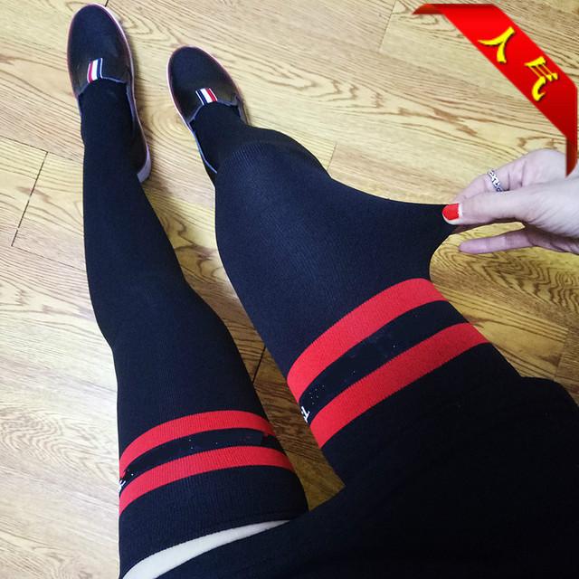 2016 Nova Promoção Hot Sale da Mulher Na Altura Do Joelho-alta Meias Over-the-knee Meias de Tricô No Outono e Botas de Inverno Letras De