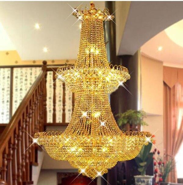 Modern Large Crystal Chandelier light Gold /Chrome Foyer Crystal Chandelier light Width 120cm Guaranteed 100%+Free Shipping! anon маска сноубордическая anon somerset pellow gold chrome
