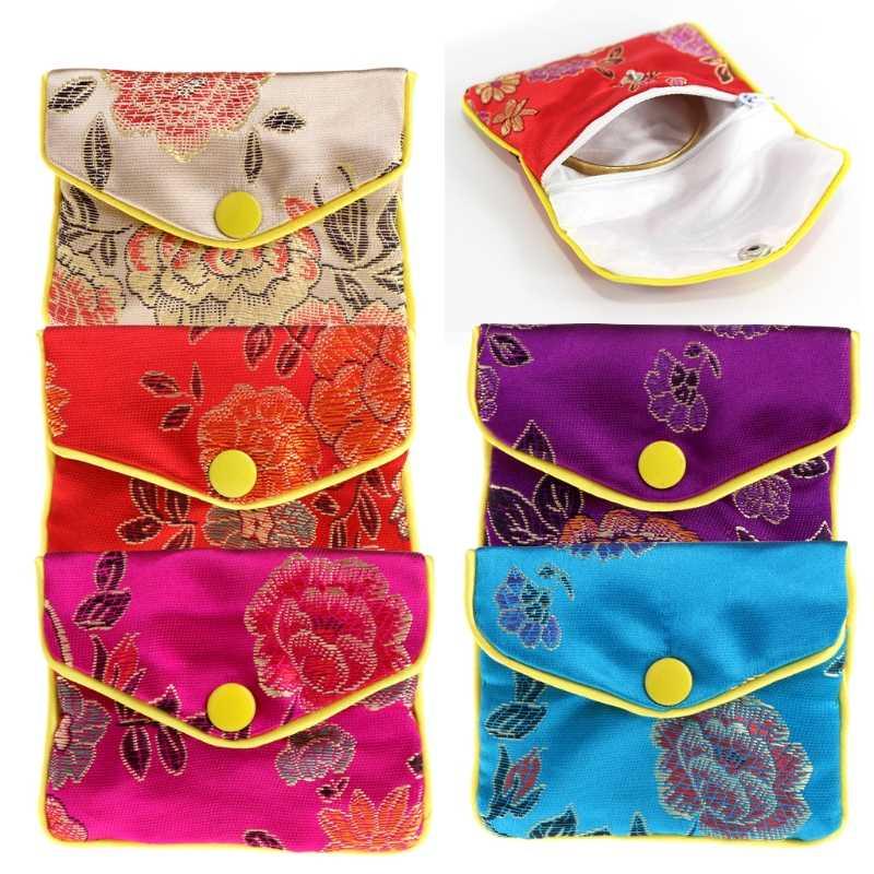 ジュエリー収納袋シルク中国の伝統ポーチ財布ギフト宝石オーガナイザー