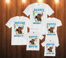 Moana Birthday Shirt Custom Personalized White T For Kids And FamilyChina