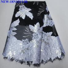 Французская вышитая кружевная ткань из органзы 5 ярдов модный стиль африканская Тюль кружевная ткань для свадебного платья еврей-03