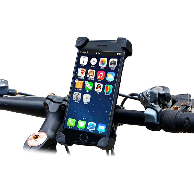 360 Degree Rotation Bicycle Phone Holder Bike Handlebar Adjustable Viewing Angle Mobile Holder For Bike Bicycle Accessories