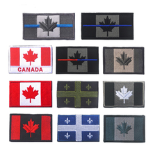 Canadian National Flag Maple Leaf Embroidery Badge Embroideried Icons Military Uniform Tactical Bandage Patch Patches