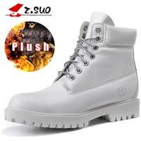 Z Suo Plus Size 36 42 Platform Fur Women Boots Top Quality Female Warm Mid Calf