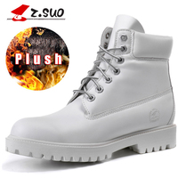 z.suo Plus Size 36-42 Platform Fur Women Boots Top Quality Female Warm Mid calf Snow Boots shoes Woman Winter Ladies Boots White