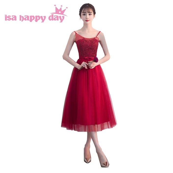 Robe de soirée rouge vin brettygirl dentelle vintage tulle adolescente bretelles spaghetti robes de demoiselle d'honneur pour robe de soirée mariée H4245
