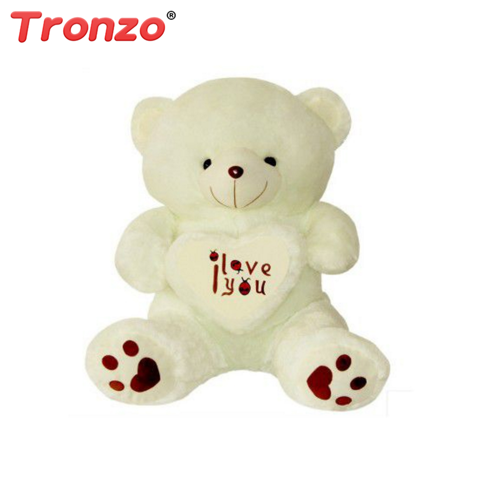 Tronzo 1Pcs 50cm Kawaii Baby Love Bear Pillow Teddy Bear Plush Toys Stuffed Soft Doll Easter Gift For Girl Drop shipping