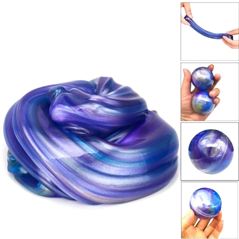 Toy Galaxy Crystal Ball Mud Creative Modeling Clay Intelligent Playdough Lizun Slime Kids Putty Anti Stress Toy