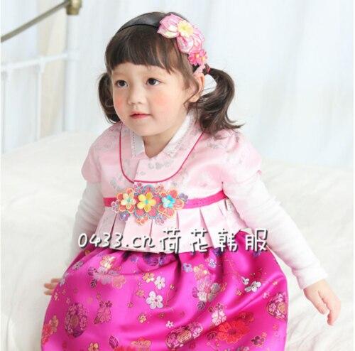 Korean Traditional Hanbok Dress 2019 New Children's Set Girls Princess Dress Baby Girls Traditional Korean Hanbok