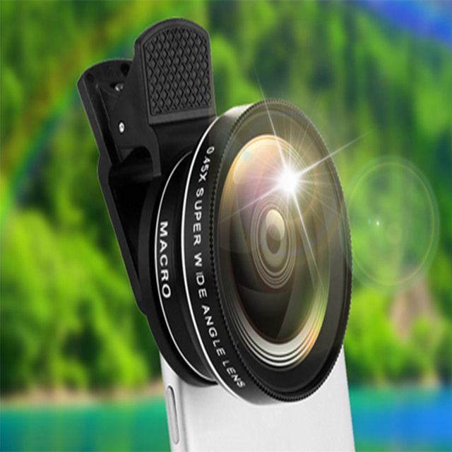 3 in 1 Mobile Phone Lenses For iPhone 7 6s plus xiaomi huawei samsung Fish eye Lens Wide Angle Macro Camera Lens