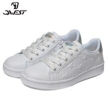 QWEST/брендовые кожаные стельки; дышащие детские спортивные ботинки с застежкой-липучкой; размеры 28-34; детские кроссовки для девочек; 91P-XO-1328
