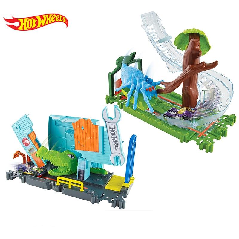 Original Hot Wheels Beast Scene Boy Car Track Toy FNB05 Hotwheels Kid Educational Car Toy Best