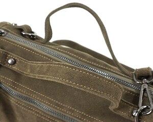 Image 2 - LilyHood Female Suede Genuine Leather Rivet Shoulder Bag For Women Leisure Small Boston Handbag Nubuck Bowler Crossbody Bag