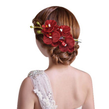 kai yunly 1PC Womens Flower Hair Clip Hairpin Bridal Hawaii Party Red Aug 24