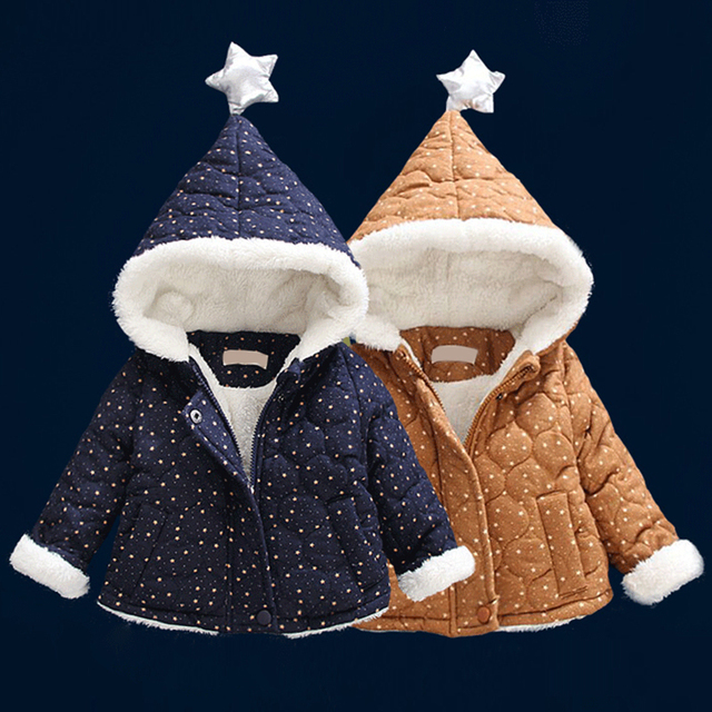 Capa del invierno del bebé unisex de algodón de moda ropa de bebé niñas chaqueta de algodón acolchado ropa infantil del bebé prendas de vestir exteriores gruesa 1to12 meses