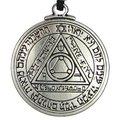 1 unids amuleto dom colgante collar llavero talismán de salomón sello collar colgante hermético Enochian Kabbalah pagana wicca joyería