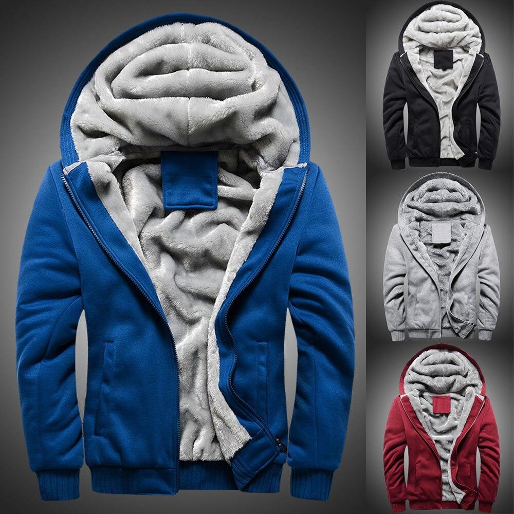 2017 Winter Neue Herren Hoodie Winter Warme Fleece Mode Lässig Reißverschluss Pullover Jacke Outwear Mantel Heißer Verkauf Mit Hoher Qualität #35