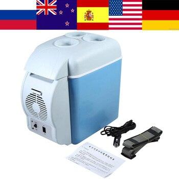 12 В 7.5L Мини-Автомобильный холодильник Multi-function Dual-Mode Cooler Warmer контроль температуры автомобильный холодильник для дома путешествия применени...