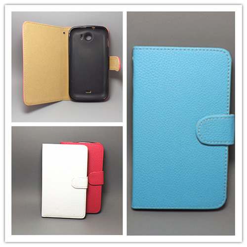 7 colors FOR <font><b>ZTE</b></font> Grand X V970 <font><b>V970M</b></font> U970 Lichi Texture Leather Case Pouch Flip case Free Shipping image