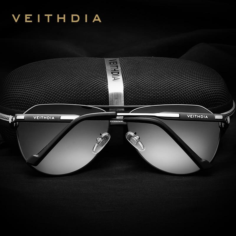 VEITHDIA Marka Tasarımcısı erkek Güneş Gözlüğü Polarize Ayna - Elbise aksesuarları - Fotoğraf 2