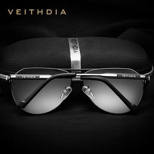 Image 2 - VEITHDIA Brand Designer Mens Sunglasses Polarized Mirror Lens Big Oversize Eyewear Accessories Sun Glasses For Men/Women  3562