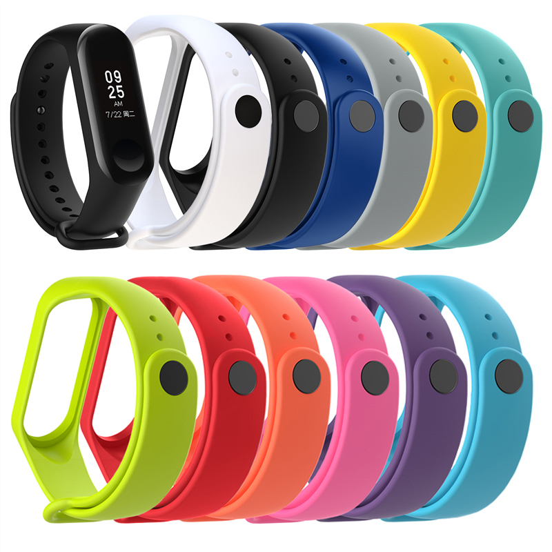 On My Mi Band 3 Strap Durable Watch Silicone Wrist Strap For Xiaomi Mi Band 3 Xiomi Miband 4 Brand 4 Sport Bracelet Accessories