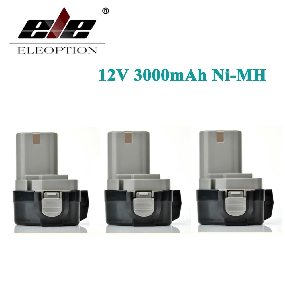ELEOPTION 3PCS 12V Extended Ni-MH 3.0AH 3000mah for MAKITA Battery 1234 1233 1235F 192698-8 193157-5 Battries Cordless Drill Pow eleoption high quality 12v 3000mah ni mh battery for makita 1234 1235 1235f 193138 9 192698 a