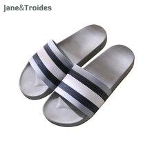 Jane et Troides D'été Non-slip Hommes Pantoufles Intérieur Extérieur Souple Confortable Flip Flops Rayé Occasionnels Sandales De Mode Homme chaussures