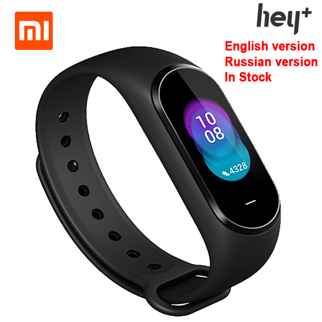 English Version Xiaomi Hey Plus Smartband 0.95Inch AMOLED Color Screen Builtin Multifunction NFC Message Reminder Push Message