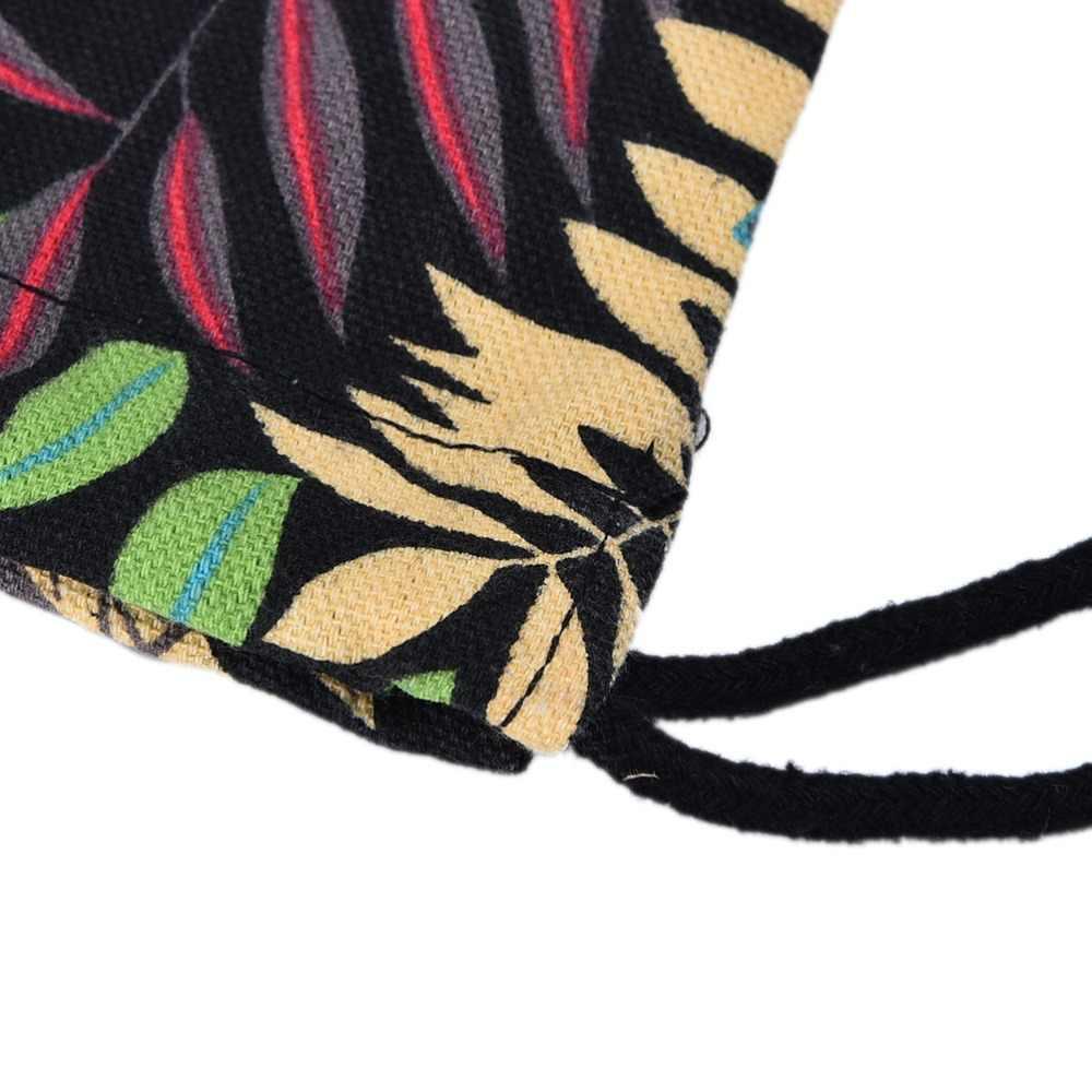 Patrón de hoja de verano para mujer, Mochila con cordón, Mochila, Mochila Oxford, bolsos de hombro, Mochila escolar Vintage para estudiantes