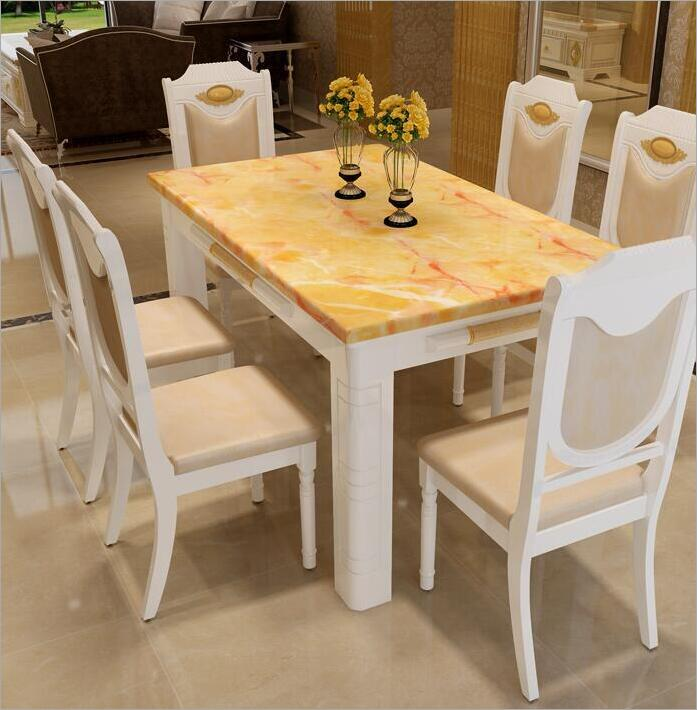 Modern Style Table 100% Solid Wood Italy Style Luxury Dining Table Set 6 chairs o1097 цены онлайн