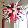 Хорошо спроектированная домашняя люстра  освещение  искусство  энергосбережение  индивидуальные цветные ручные выдувные муранские стекля...