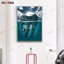 Canvas Print Art Dinosaur Island Caribbean Sea Hd Photography Home Painting Poster Wall Pictures Living Room