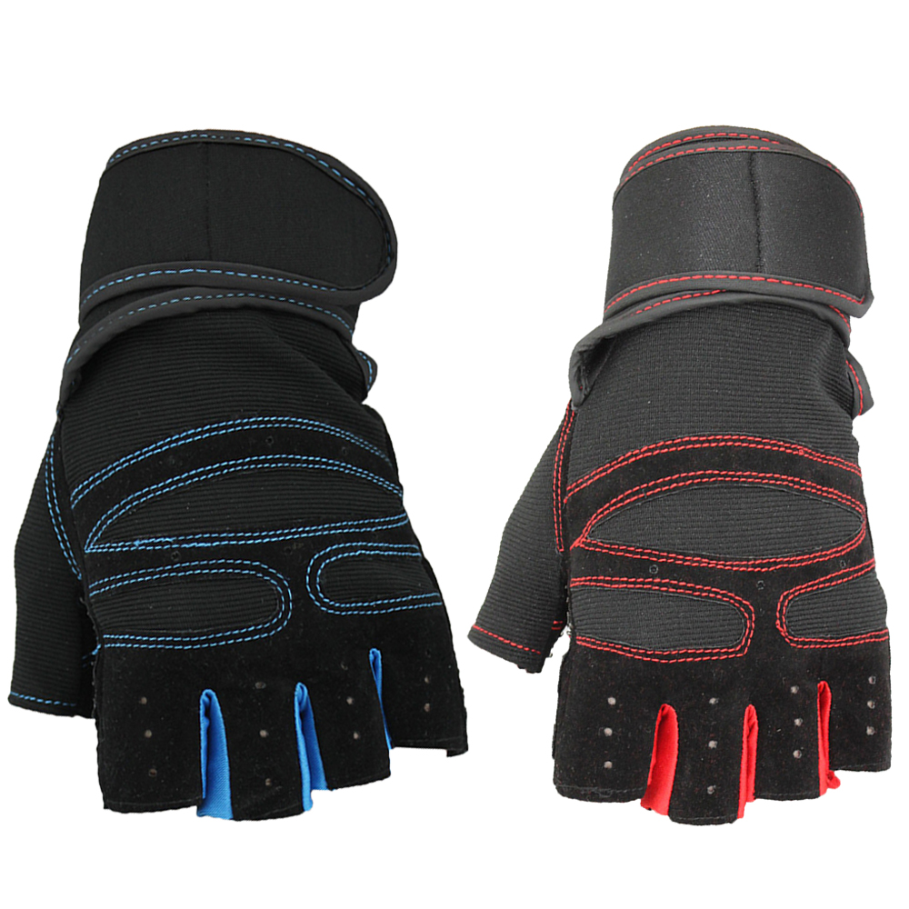 Mens leather gloves black friday - New Arrival Cycling Gloves Men Bike Bicycle Fingerless Glove Gel Shockproof Sports Half Finger Gloves M