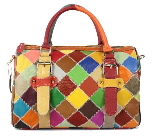 2018 New 100%  Genuine Leather Women Tote Large Capacity Duffle Bags Women's Messenger Vintage Shoulder Bag Casual Shopping Bags large leather vintage tote bags women