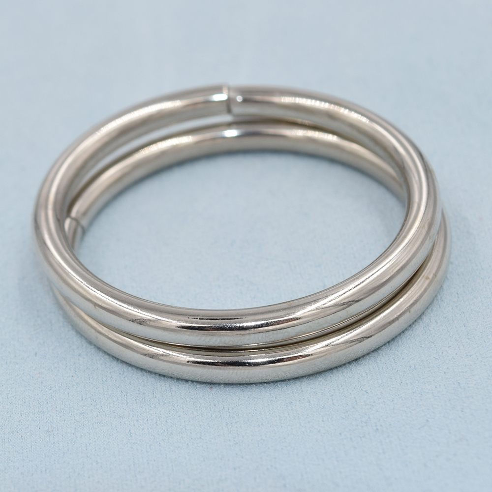 10 pieces/lot)4mm thick. An inner diameter of 38mm metal buckle ...