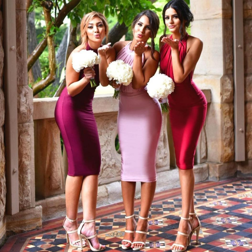 Online get cheap beach bridesmaid dresses for weddings aliexpress sexy backless short bridesmaid dresses fuchsia 201 ombrellifo Gallery