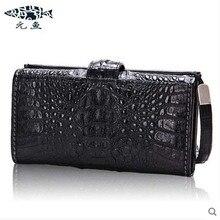 yuanyu 2017 new hot free shipping Thailand crocodile leather bag men clutches  men long wallet high-capacity men bags men purse