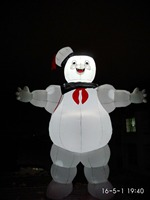 Giant Portable Lighting Advertising Inflatable Stay Puft Inflatable Marshmallow Man For Sale