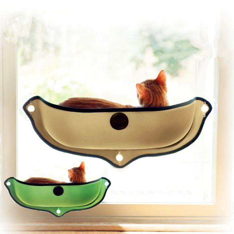 Camas de mascotas para casa de gato juego de cama de gato extraíble Ventana de gato hamaca cama para ventana montaje tumbona mascota casa Venta caliente Dropshipping. exclusivo.