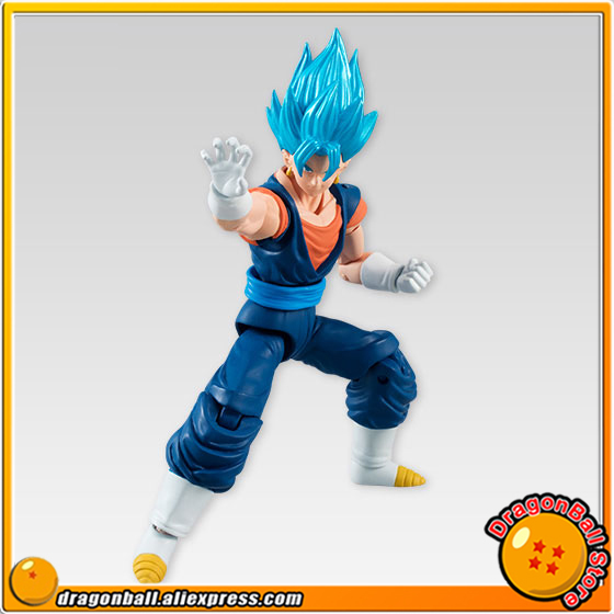 Anime Dragon Ball Z Original BANDAI Tamashii Nations SHODO Vol.5 Action Figure - Super Saiyan God SS Vegetto (9cm tall) cmt original bandai tamashii nations s h figuarts shf dragon ball db kid son gokou action figure anime figure pvc toys figure